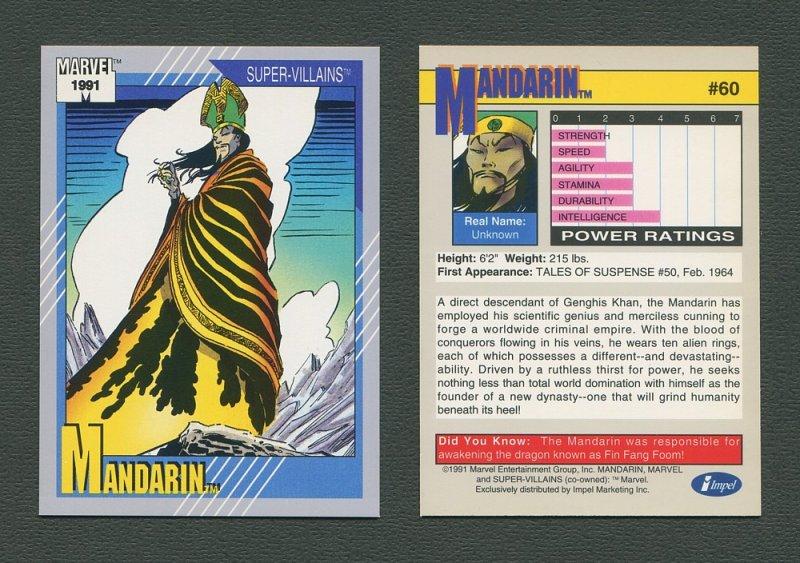 1991 Marvel Comics II  Card  #60 ( Mandarin )  MINT