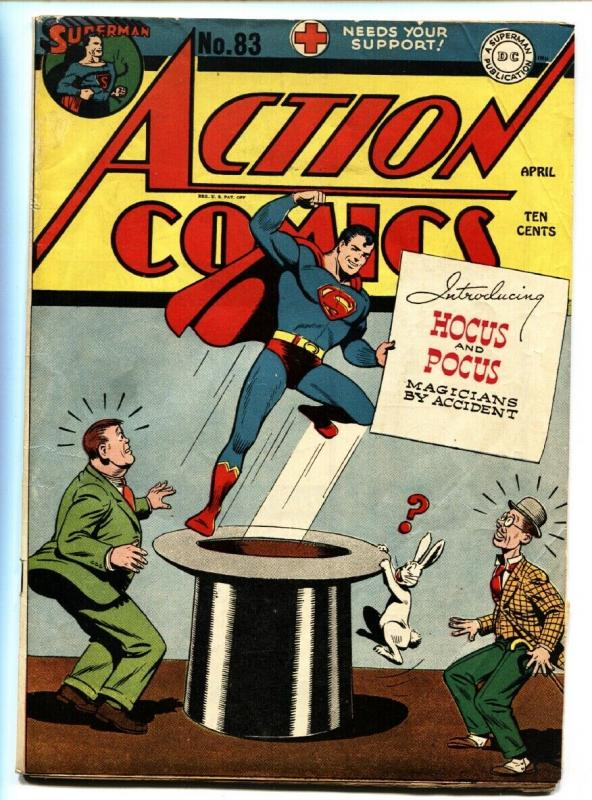 ACTION COMICS #83-SUPERMAN-1945-comic book-DC GOLDEN AGE