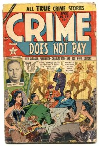 Crime Does Not Pay #121 1953- chorus girl cover- Golden Age F/G