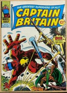 CAPTAIN BRITAIN #29 (4/1977,Marvel UK) VF-NM,  England's #1 superhero!