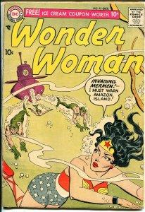 Wonder Woman #93 1957-DC-Invasion Of The Mermen-Flying Saucer-VG