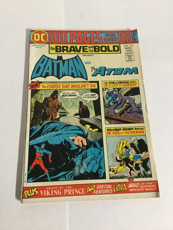 Brave And The Bold 115 Vg+ Very Good+ 4.5 DC Comics