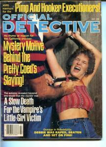 OFFICIAL DETECTIVE-07/1984-SLOW DEATH FOR THE VAMPIRES LITTLE-GIRL VICTIM- VG