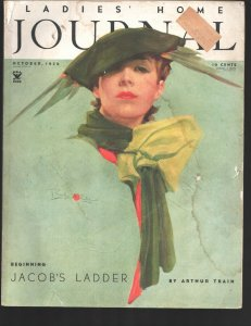 Ladies' Home Journal 10/1934-Curtis-Pin-up portrait cover by Pearhyn Stanlaws...