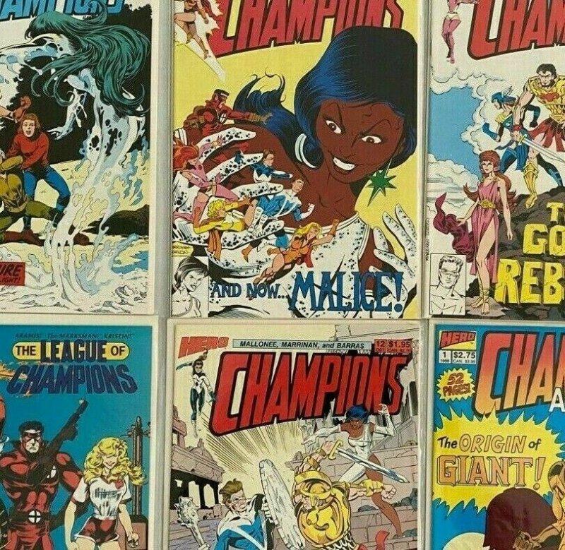 Champions set:#1-12+Annual avg 8.5 VF+ (1988-89)