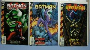 Batman DC Comics 1999 LOT 3 Issues No Man's Land #563 #567 #737 Cassandra Cain!!