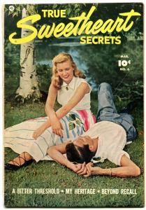 TRUE SWEETHEART SECRETS #6 1952-PHOTO COVER-FAWCETT G
