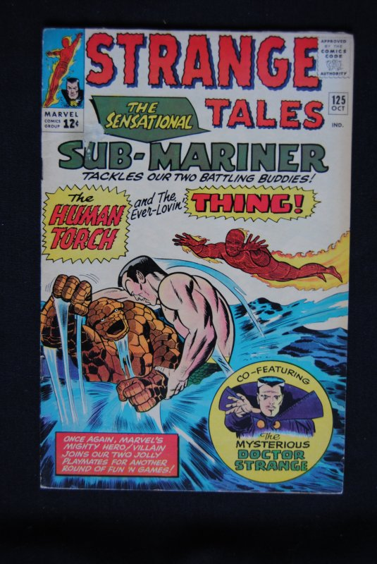 Strange Tales #125, Dr. Strange, Human Torch, Sub-Mariner