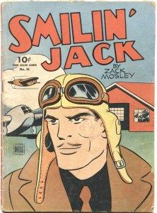 SMILIN' JACK-FOUR COLOR COMICS #36-1944-ZACK MOSLEY ART-DELL-RARE