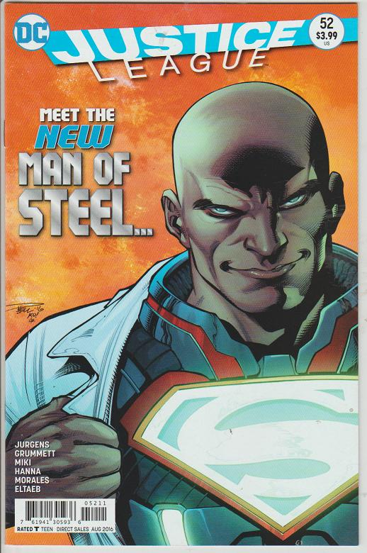 JUSTICE LEAGUE #52 - NEW MAN OF STEEL - DC COMICS - BAGGED & BOARDED