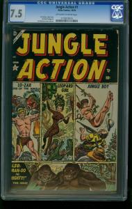 JUNGLE ACTION #1-ATLAS-CGC 7.5-JOE MANEELY-LO-ZAR-SOUTHERN STATES 1173075015