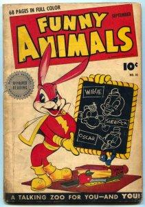 Funny Animals #10 1943-Hoppy The Marvel Bunny-Golden Age VG