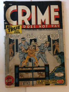 CRIME DOES NOT PAY  (Lev Gleason) 47 GOOD (lc)  1946  Electric Chair
