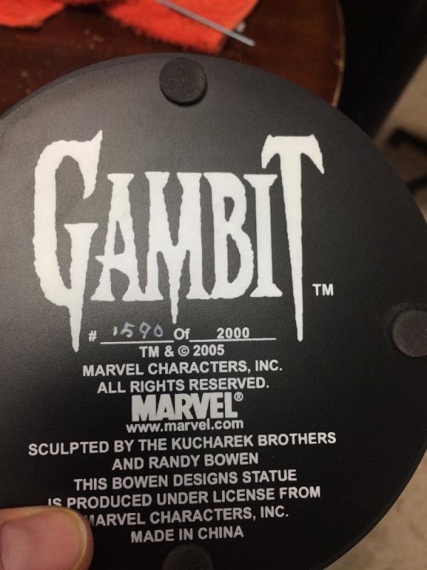 Gambit Statue Bowen X-men Full Size Mint 1590/2000 W/ Perfect Box