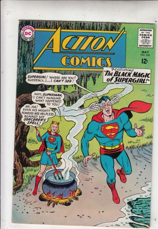 Action Comics #324 (May-65) FN/VF Mid-High-Grade Superman, Supergirl