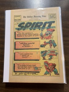The Spirit Comic Book Section Newspaper Very Fine Or Better 1942 March 29