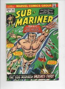 SUB-MARINER #63, VG/FN, Dr Hydro, Atlantis, Marvel, 1968 1973, more in store
