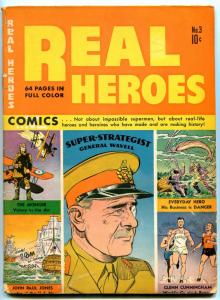 Real Heroes #3 1942-Parents-war stories-Negro patriot-Glenn Cunningham- VG+