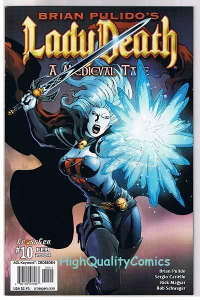 LADY DEATH MEDIEVAL TALE #10, NM+, Brian Pulido, 2003, more LD in store