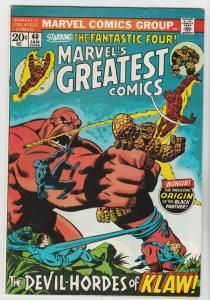 Marvel's Greatest Comics #40 (Jan-73) NM- High-Grade Fantastic Four, Mr. Fant...