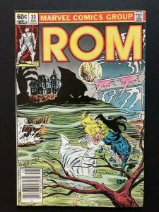 MARVEL ROM Spaceknight #33 1982 series Newstand Variant FINE/VERY FINE(A64)