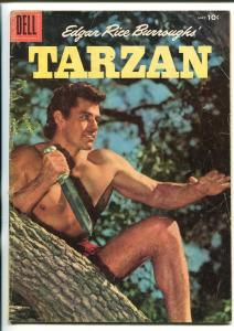 Tarzan Comics #80 1956- 1st Gordon Scott photo cover- Dell Comics -vg