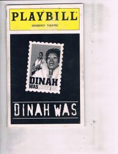 3 Playbills Haarlem Nocturne Dinah Was Washington Leader Of The Pack Latin J118