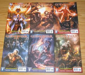 God of War #1-6 VF/NM complete series based on the sony video game 2 3 4 5 set