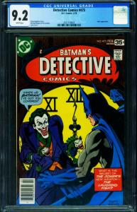 DETECTIVE COMICS #475 CGC 9.2 1975-Classic Joker cover 2021159003