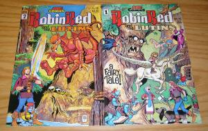 Robin Red and the Lutins #1-2 VF/NM complete series - a fairy tale - ace comics