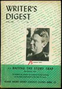 Writer's Digest April 1948- Kingsley Tufts- Johnston McCulley VG