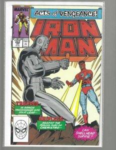 Iron Man, #252, Marvel Comic, 1989, High Grade