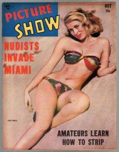 Picture Show 10/1949-Pat Hall-cheesecake pix-Ava Gardner-showgirls-VF