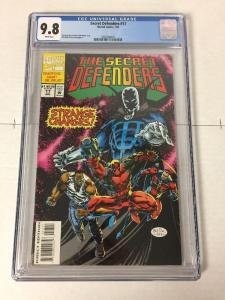 Secret Defenders 17 Cgc 9.8 White Pages Early Deadpool Very Very Rare See Descr.