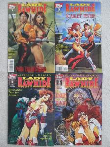 ZORRO'S LADY RAWHIDE: OTHER PEOPLE'S BLOOD- Four (4) Issue Lot- #1, #2, #4, & #5