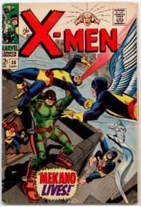 X-Men #36 VG+ 4.5  Mekano, Factor Three