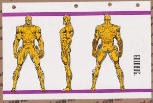 Official Handbook of the Marvel Universe Sheet- Goldbug