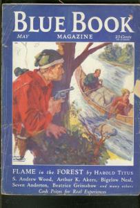 BLUE BOOK PULP-5/1932-H BEDFORD JONES-DARKTOWN STORY!! G-