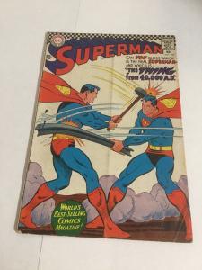 Superman 196 Gd+ Good+ 2.5 DC Comics Silver Age