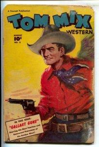 Tom Mix Western #8 1948-Fawcett-Painted cover by Everett Raymond Kinstler-Car...