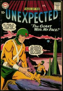 TALES OF THE UNEXPECTED #38 1959 DC ROCKET COVER VG