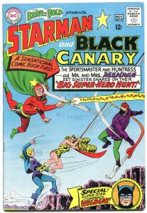 The Brave and the Bold #62 1965- Black Canary- Starman VF-
