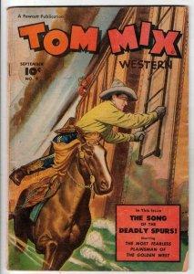 Tom Mix Western #9 (Sep-48) VG Affordable-Grade Tom Mix
