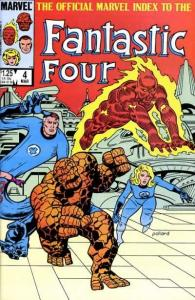 Official Marvel Index to the Fantastic Four #4, NM (Stock photo)
