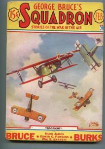 GEORGE BRUCE'S SQUADRON 02/1934-WWI-TINSLEY-BI-PLANES-DOG FIGHT-fn minus