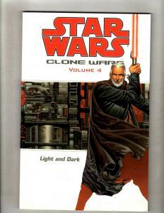 Clone Wars Vol # 4 Star Wars Dark Horse Comics TPB Graphic Novel Light Dark J337
