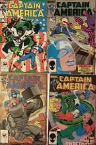CAPTAIN AMERICA (1984) MARVEL #309-#312–4 BOOK LOT!FIRST SERPENT SOCIETY.!NM+