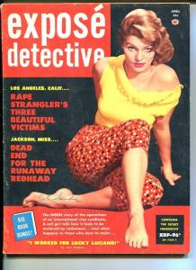 EXPOSE DETECTIVE-APRIL 1959-VG/FN-SPICY-MURDER-RAPE-BEHEADING-LUCKY LU VG/FN