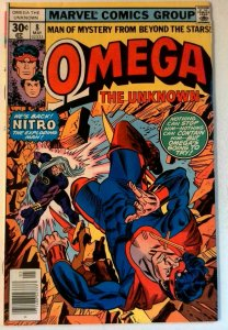 Omega the Unknown #8 Marvel 1977 VF Bronze Age Comic Book 1st Print