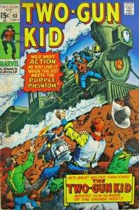 Two-Gun Kid #93 Marvel Comic 1967 Silver Age VG/FN